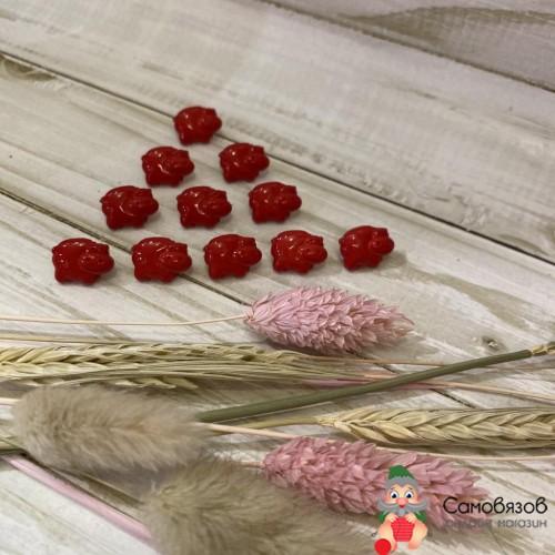 Пуговицы Бегемот красный