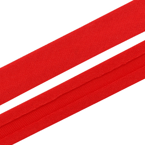Текстильная галантерея Косая бейка 15мм 0000-1500 (6065/2077 красный) Цена указана за 10см