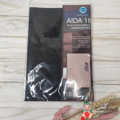 Aida 18 цвет черный