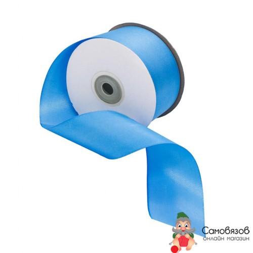 Лента атласная 5,0см (8105 голубой) цена указана за 10 см