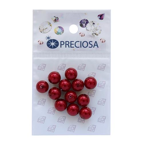 131-10-011 Хрустальный жемчуг Red 8мм. 12 шт. Preciosa