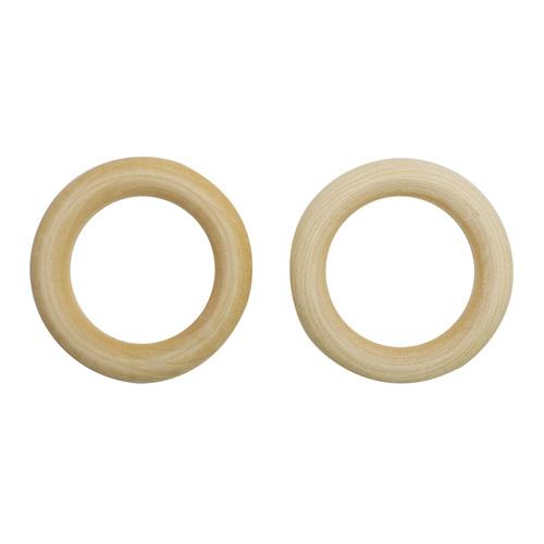 Бусины деревянные неокрашенные кольцо 60 мм, цена за 1 шт